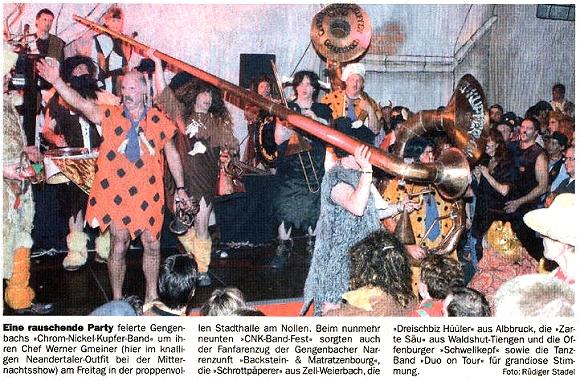 Chrom-Nickel-Kupfer Band - Nachbericht - 9. Chrom-Nickel-Kupfer Band Fest 2007 - 20.02.2007